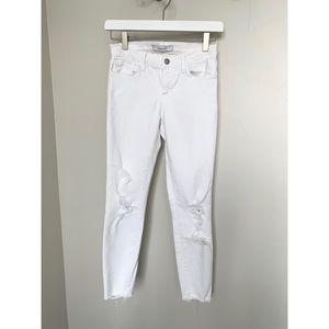Jbrand white cropped jeans